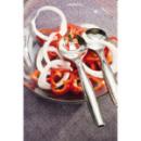 5 paires de couvert à salade en plastique rigide métallisé