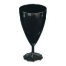 6 verres à eau design plastique rigide noir ébène 20 cl