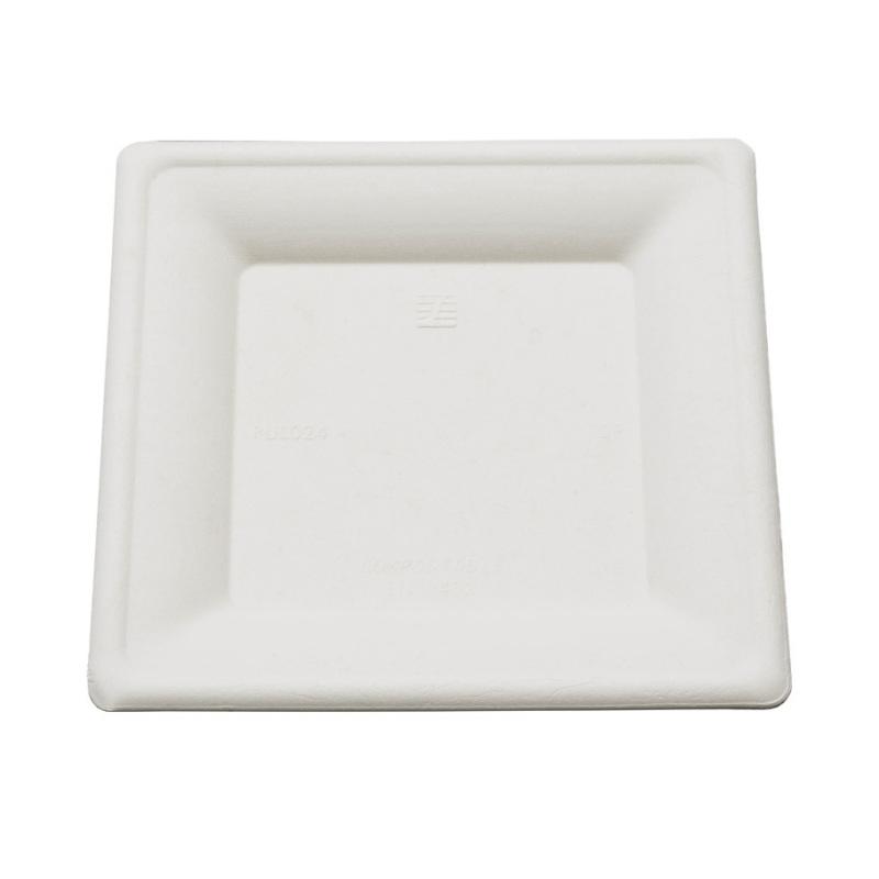 assiette carr e biod gradable blanche 26 cm. Black Bedroom Furniture Sets. Home Design Ideas