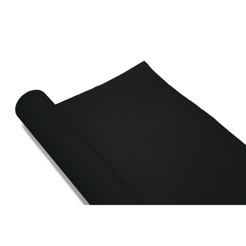 Chemin de table noir en papier rouleau m qualit for Nappe et chemin de table en papier