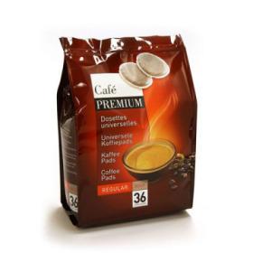 Pack de 36 dosettes souples caf premium regular doux pour - Machine a cafe pour dosette souple ...