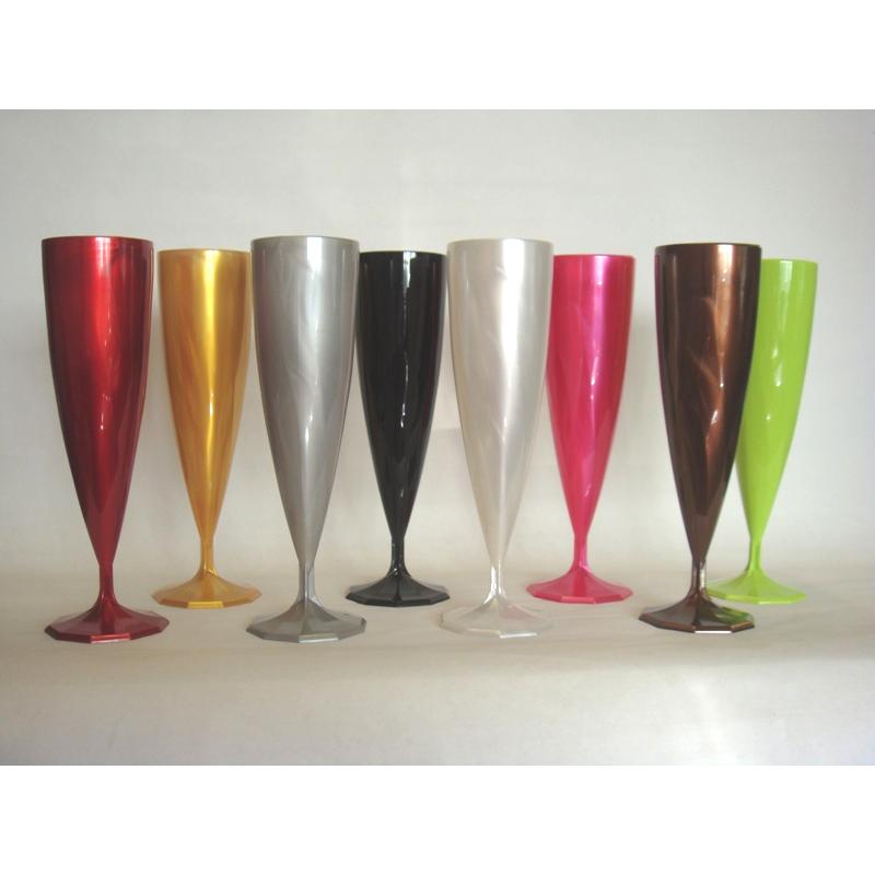 Fl te champagne monobloc de luxe design argent 13 cl x 10 - Flutes a champagne originales ...