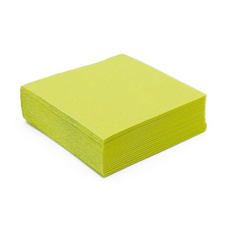 Petite serviette en papier vert kiwi microgaufr double paisseur 25 cm - Serviette en papier vert fonce ...